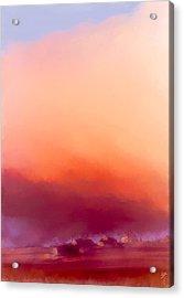 Winter Sun In Iceland Acrylic Print by Greta Thorsdottir