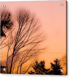 Winter Sunrise Acrylic Print by Laurie Breton
