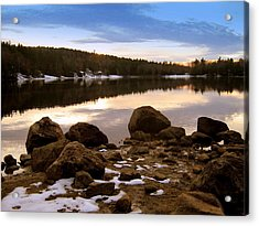 Acrylic Print featuring the photograph Winter Sunset by Bruce Carpenter