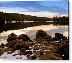 Winter Sunset Acrylic Print by Bruce Carpenter
