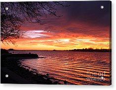 Winter Sunset Acrylic Print by Butch Lombardi