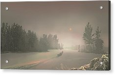 Winter Sunset Acrylic Print by Igor Zenin