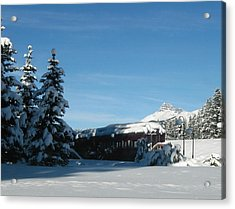 Winter Train Acrylic Print
