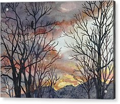 Winter Watch Acrylic Print by Anne Gifford