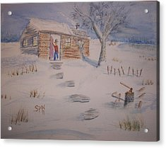 Winter Welcome Acrylic Print by Spencer  Joyner