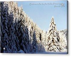 Winter Wonderland Austria Europe Acrylic Print by Sabine Jacobs