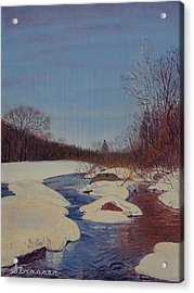 Winter Wonderland Acrylic Print by Frank Strasser