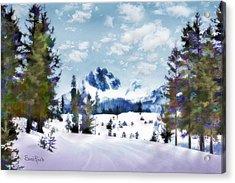 Winter Wonderland Acrylic Print by Suni Roveto