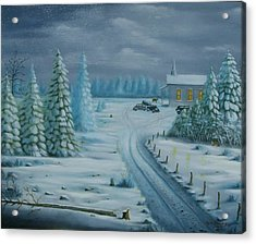 Winter Worship  Acrylic Print