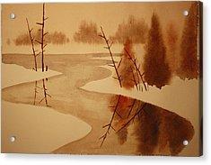 Winterbend Acrylic Print by Jeff Lucas