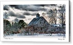 Wintering Barn Acrylic Print by Richard Bean