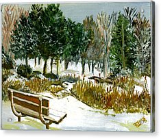 Winter's Invitation Acrylic Print