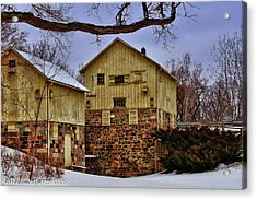 Acrylic Print featuring the photograph Winters Mill by Rachel Cohen