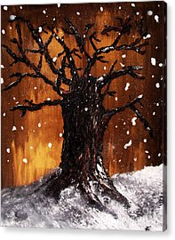 Acrylic Print featuring the painting Wintertree 3 by Ayasha Loya