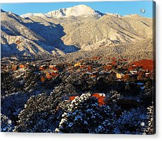 Wintery Colorado Morning Acrylic Print