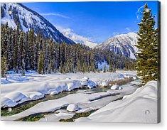 Wintery Numa Creek Acrylic Print