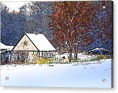 Winther In The Wood Acrylic Print by Jakup Reinert Hansen