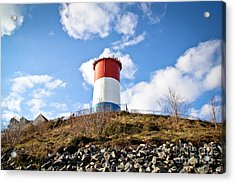 Winthrop Water Tower Acrylic Print by Extrospection Art