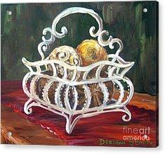 Wire Basket Acrylic Print