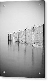 Wire Mesh Fence Acrylic Print by Joana Kruse