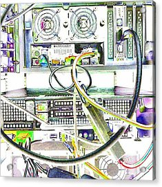 Wired World - Tech Equipment #abstract Acrylic Print
