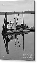 Wiscasset Reflection Acrylic Print by Catherine Reusch  Daley
