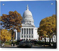 Wisconsin State Capitol Building Acrylic Print by Keith Stokes