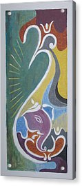 Acrylic Print featuring the painting Wisdom And Peace by Sonali Gangane