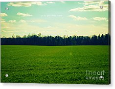 Acrylic Print featuring the photograph Wish You Were Here by Robin Dickinson