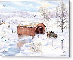 Wishin Bridge Acrylic Print by Robert Boast Cornish