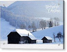 Wishing You A Wonderful Christmas Acrylic Print by Sabine Jacobs