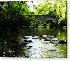 Wissahickon Bridge Acrylic Print by Bill Cannon