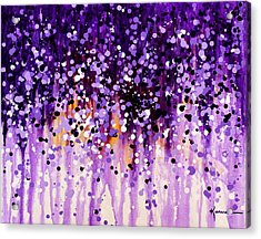 Acrylic Print featuring the painting Wisteria by Kume Bryant