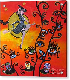 Witching And Watching Acrylic Print