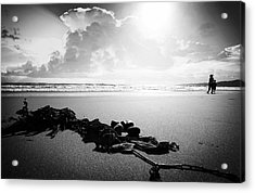With Mother Acrylic Print by Jalai Lama