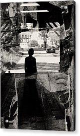 Within A Covered Bridge Acrylic Print by Joseph Duba