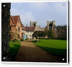 Within The Castle Walls Acrylic Print by Frank Wickham