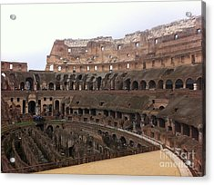 Within The Colosseum Acrylic Print by Richard Chapman