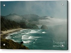 Within The Fog Acrylic Print by Johanne Peale