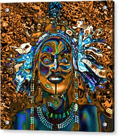Wodaabe Blue Acrylic Print