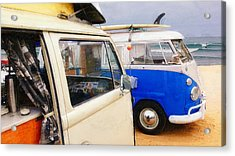 Woke Up And Went Surfin Acrylic Print by Ron Regalado