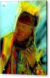 Wokini..seeking A New Beginning Acrylic Print by FeatherStone Studio Julie A Miller