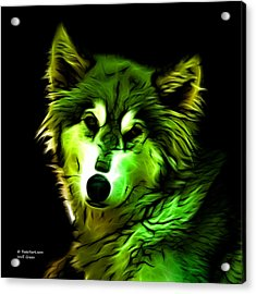 Wolf - Green Acrylic Print