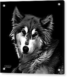 Wolf - Greyscale Acrylic Print