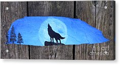 Wolf Howl1 Acrylic Print by Monika Shepherdson