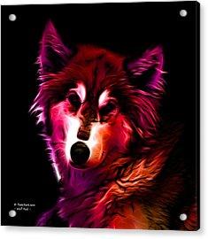 Wolf - Red Acrylic Print