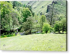 Wolfscote Dale From Gipsy Bank Acrylic Print by Rod Johnson
