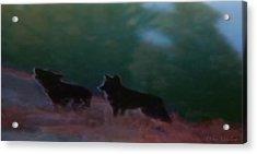 Wolves Passage Acrylic Print by Debra     Vatalaro