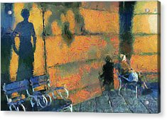 Woman And Shadows Acrylic Print by Odon Czintos
