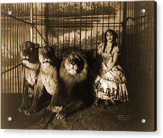 Woman Circus Performer Named Adjie Acrylic Print by Everett